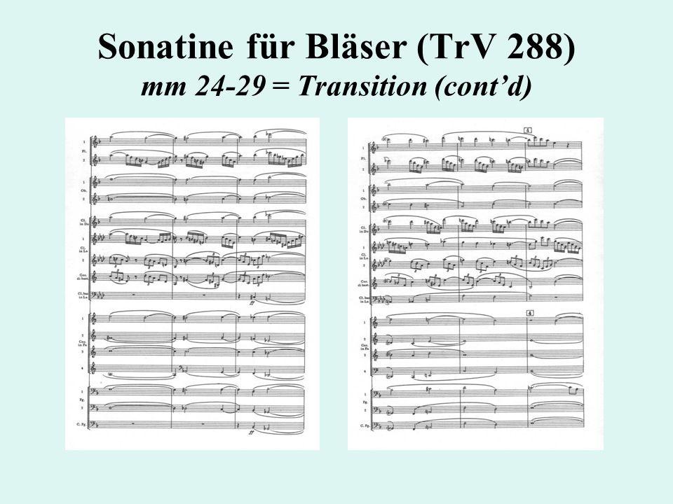 Sonatine für Bläser (TrV 288) mm 24-29 = Transition (cont'd)