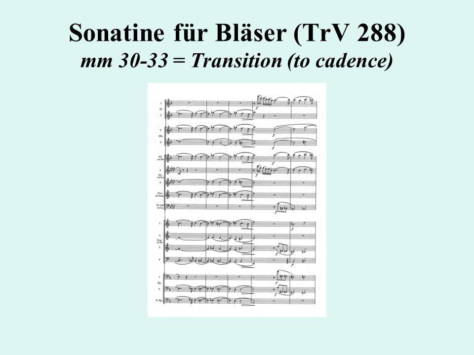 Sonatine für Bläser (TrV 288) mm 30-33 = Transition (to cadence)