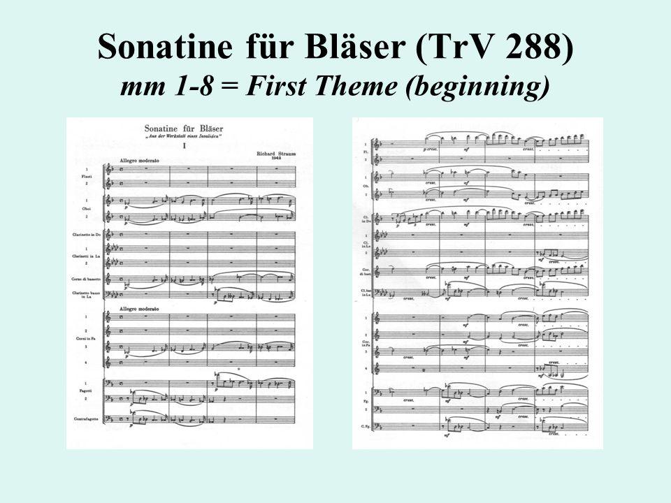 Sonatine für Bläser (TrV 288) mm 1-8 = First Theme (beginning)