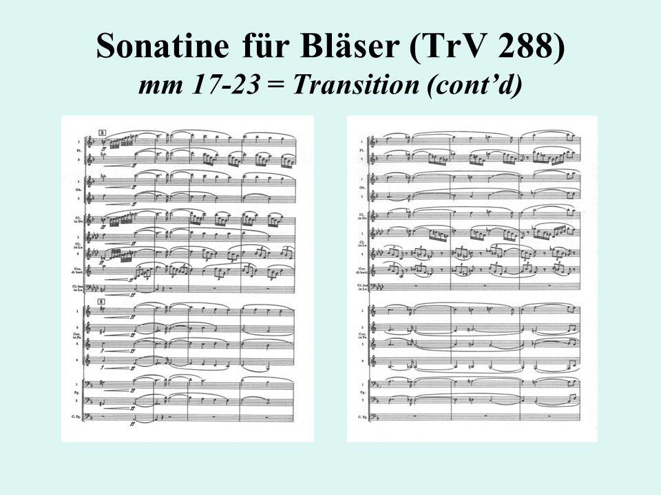 Sonatine für Bläser (TrV 288) mm 17-23 = Transition (cont'd)