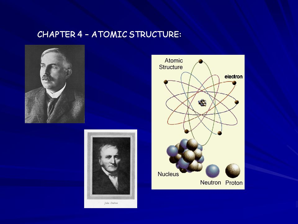 CHAPTER 4 – ATOMIC STRUCTURE: