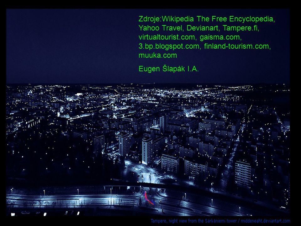 Zdroje:Wikipedia The Free Encyclopedia, Yahoo Travel, Devianart, Tampere.fi, virtualtourist.com, gaisma.com, 3.bp.blogspot.com, finland-tourism.com, muuka.com Eugen Šlapák I.A.