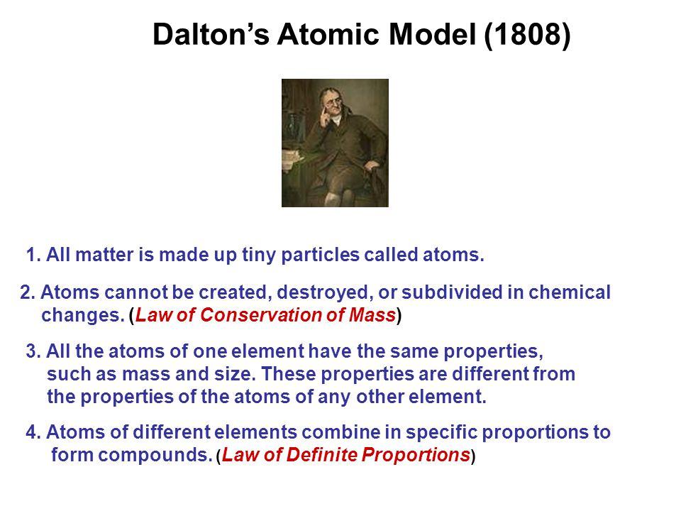 Dalton's Atomic Model (1808) 4.