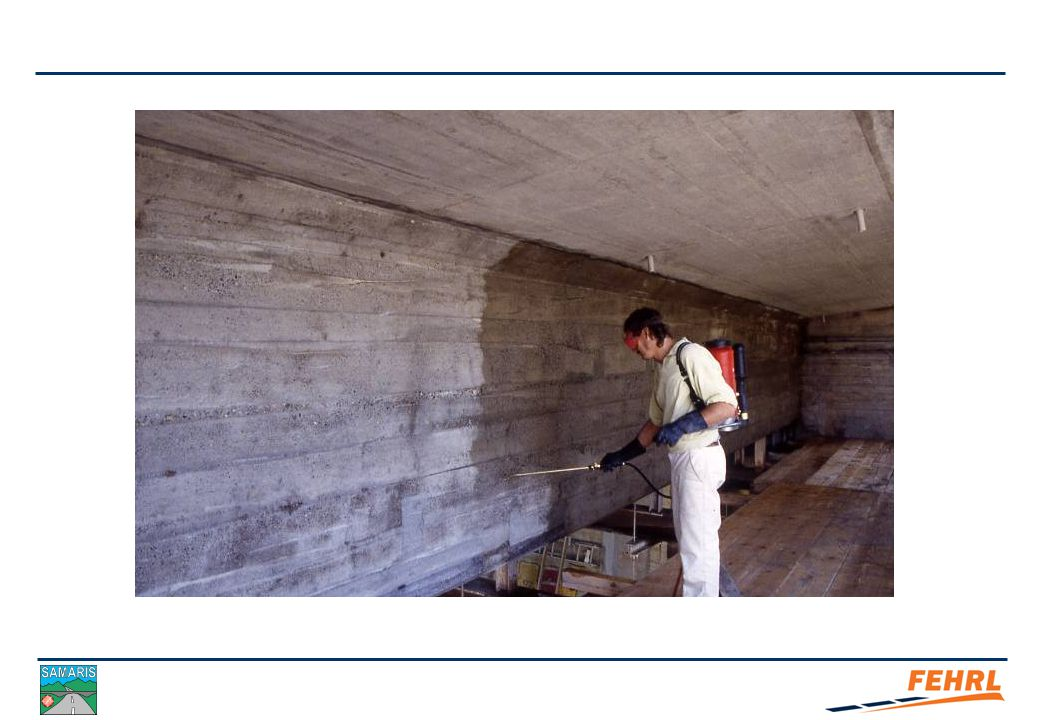 Methodology SACI are applied to mature concrete surfaces where they are absorbed.