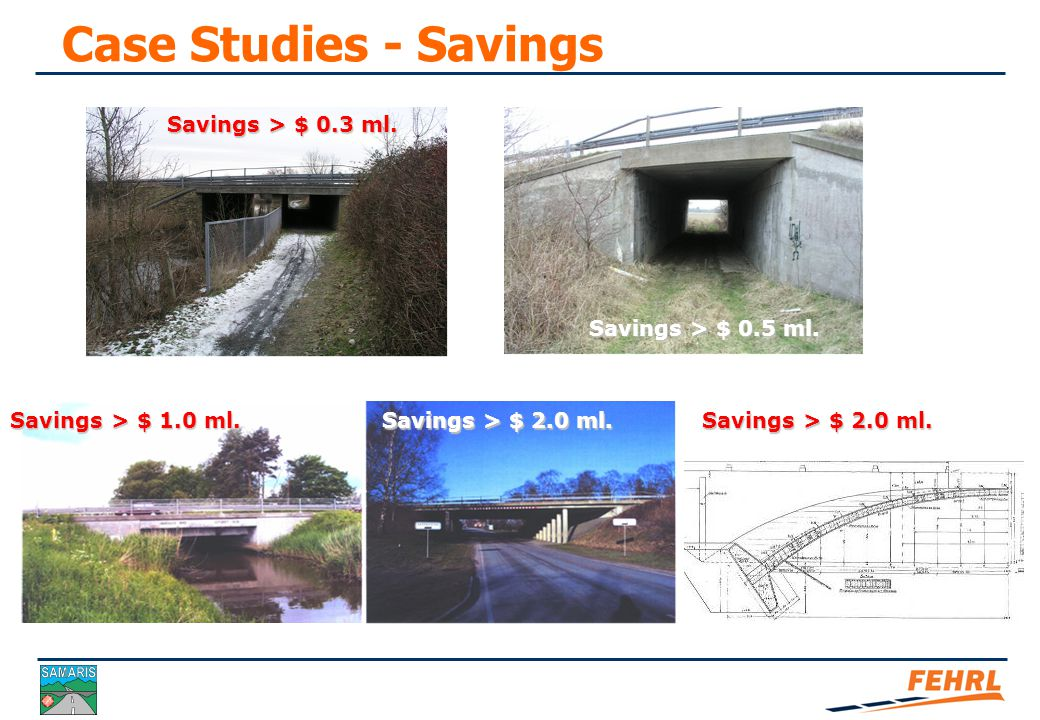 Case Studies - Savings Savings > $ 4 mio. Savings > $ 15 ml.
