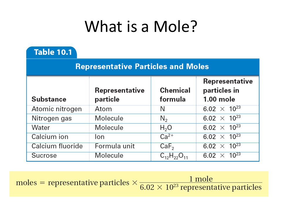 What is a Mole? 10.1