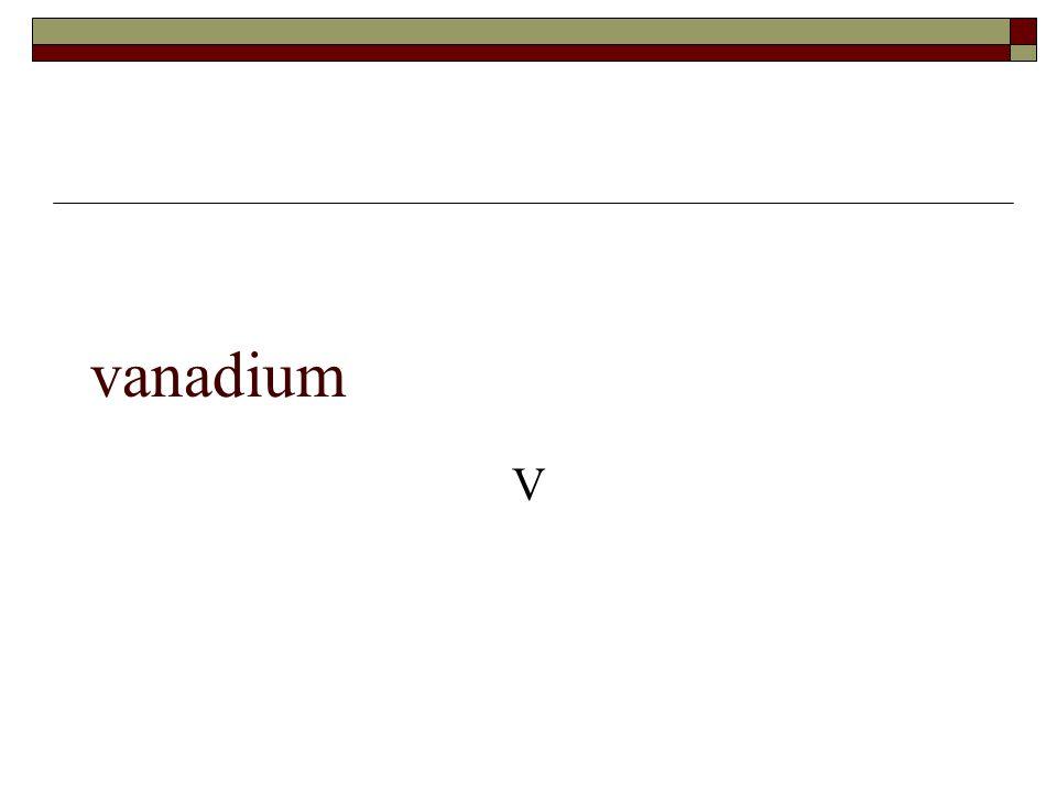 vanadium V