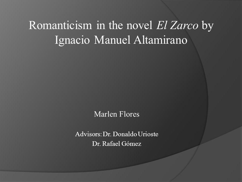 Marlen Flores Advisors: Dr. Donaldo Urioste Dr.