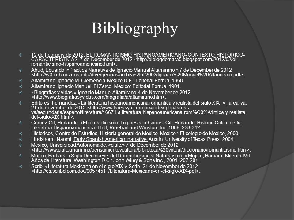 Bibliography  12 de Februery de 2012.