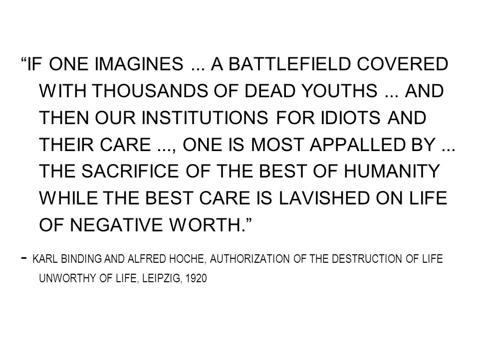 IF ONE IMAGINES... A BATTLEFIELD COVERED WITH THOUSANDS OF DEAD YOUTHS...