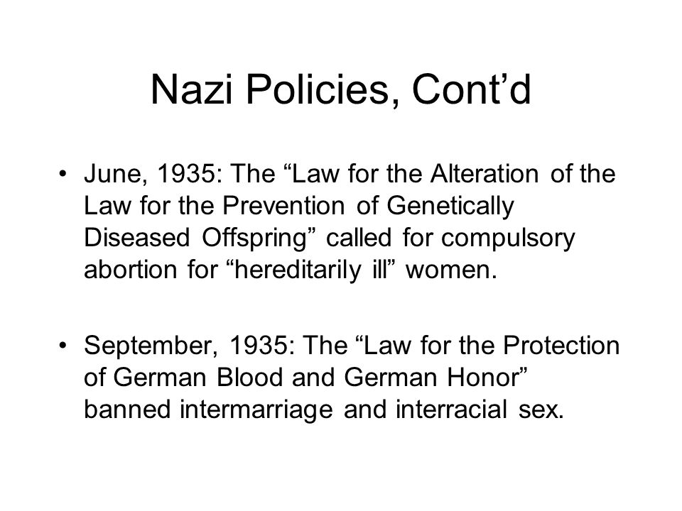 September, 1939: Hitler ordered the systematic murder of the mentally ill and physically disabled in Germany and Austria.