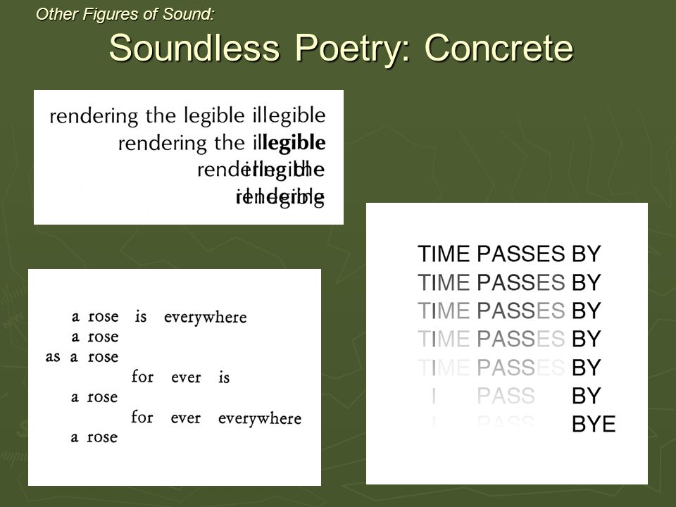 Other Figures of Sound: Soundless Poetry: Concrete