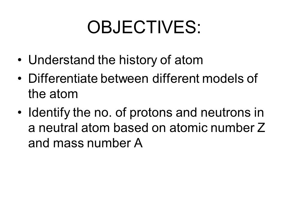 KEY TERMS Atom Atomic mass Atomic mass unit Atomic number Cathode ray Dalton's atomic theory Electron Group Isotopes Mass number Neutron Nucleus Period Periodic table Proton
