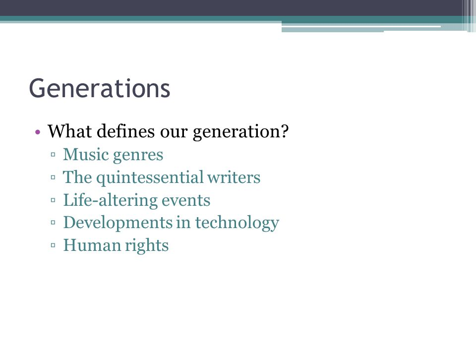 Tonight's Homework Do a little internet research on the Lost Generation.