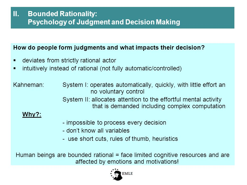 How do people form judgments and what impacts their decision.