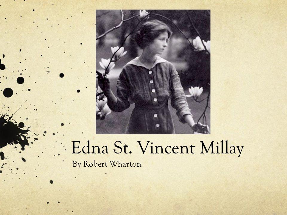 Edna St. Vincent Millay By Robert Wharton