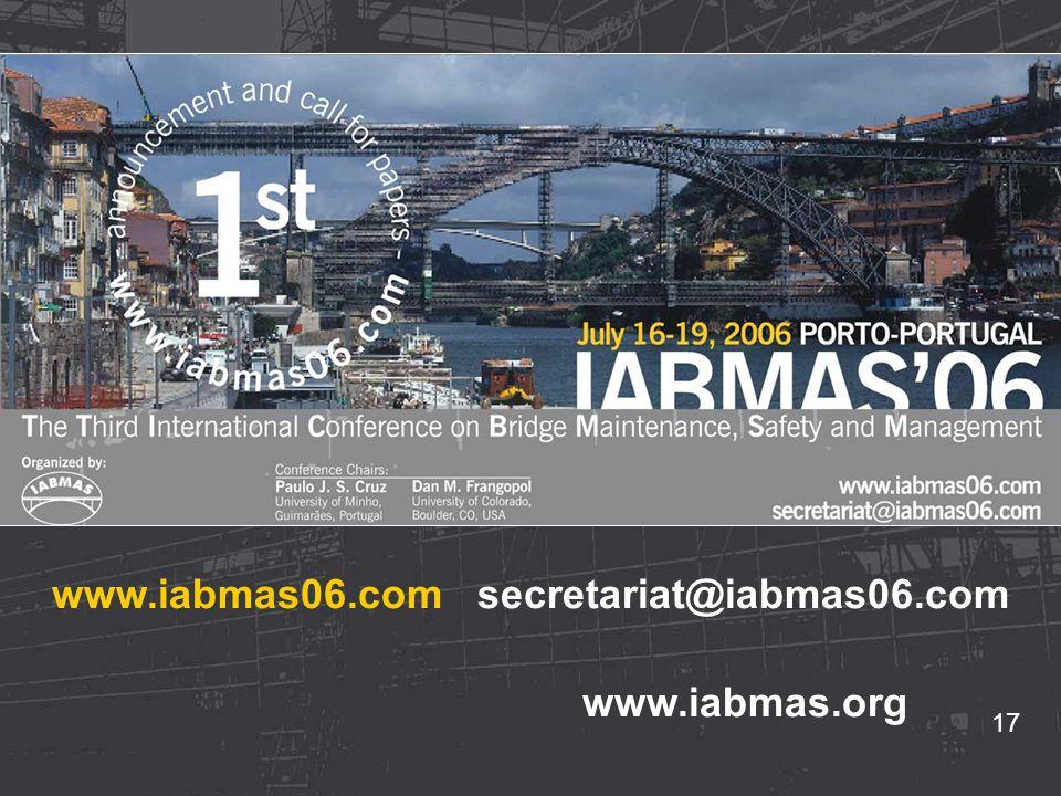 17 www.iabmas06.com secretariat@iabmas06.com www.iabmas.org 17