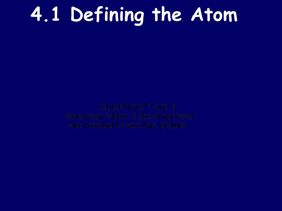4.1 Defining the Atom