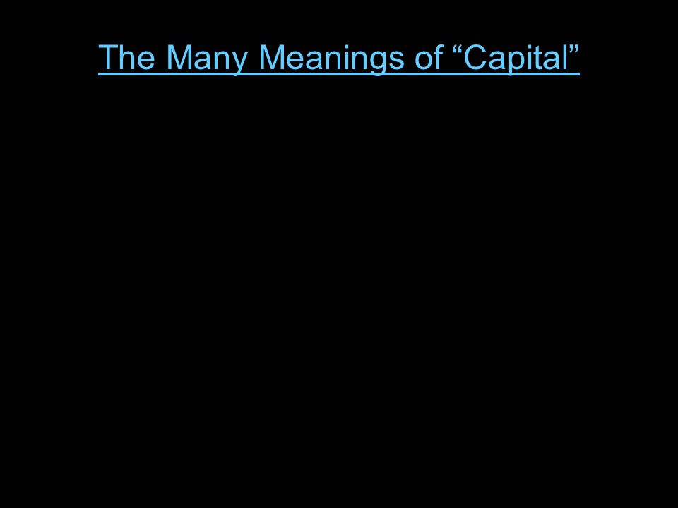 Austrian Capital Theory A Prelude to Capital-Based Macroeconomics The Knightian Stock-Flow Model The Hayekian Stages-of-Production Model July 22, 2013 Two Views: The Keynesian Animal Spirits Model