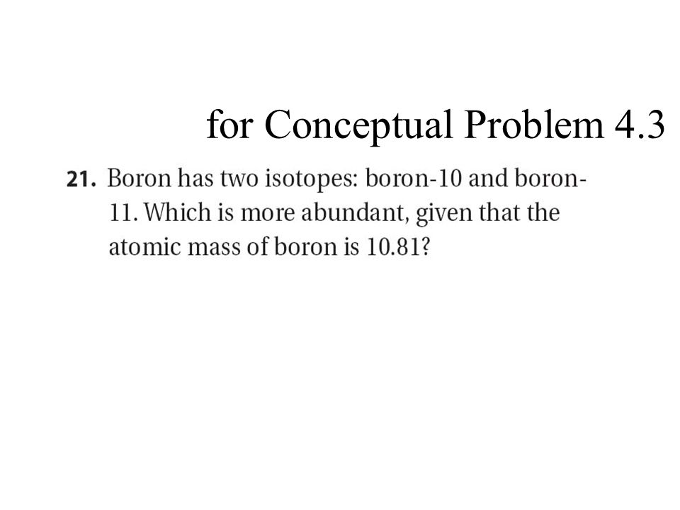 for Conceptual Problem 4.3