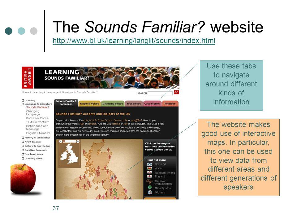 37 The Sounds Familiar.