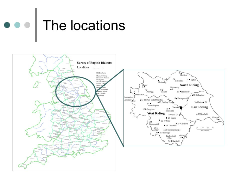 7 The locations