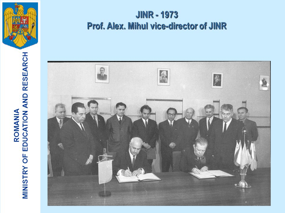 ROMANIA MINISTRY OF EDUCATION AND RESEARCH The visit of acad. N.N. Bogoliubov in Romania - 1970