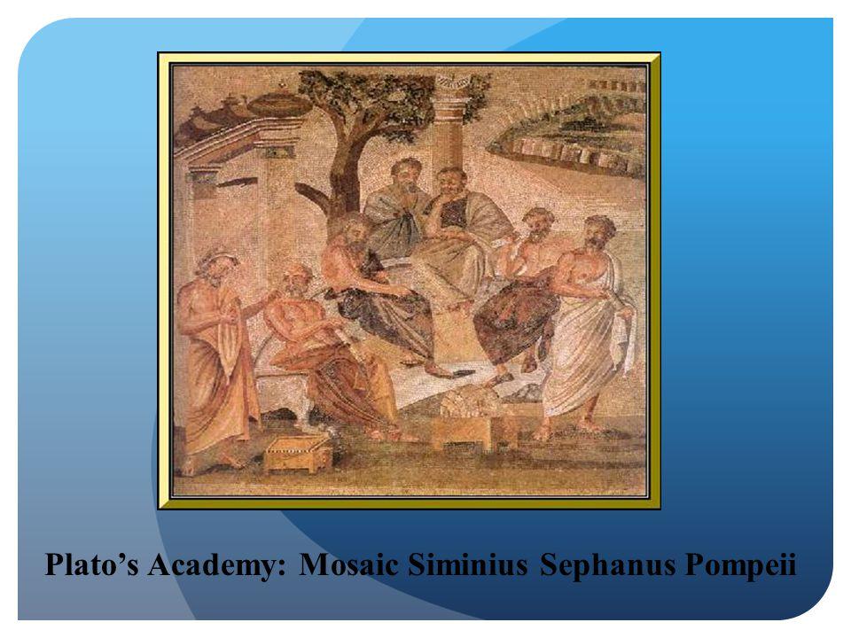 Plato's Academy: Mosaic Siminius Sephanus Pompeii