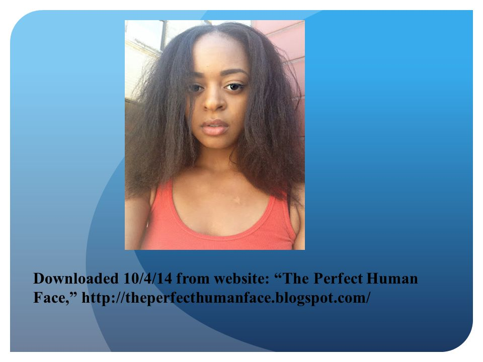 """Downloaded 10/4/14 from website: """"The Perfect Human Face,"""" http://theperfecthumanface.blogspot.com/"""