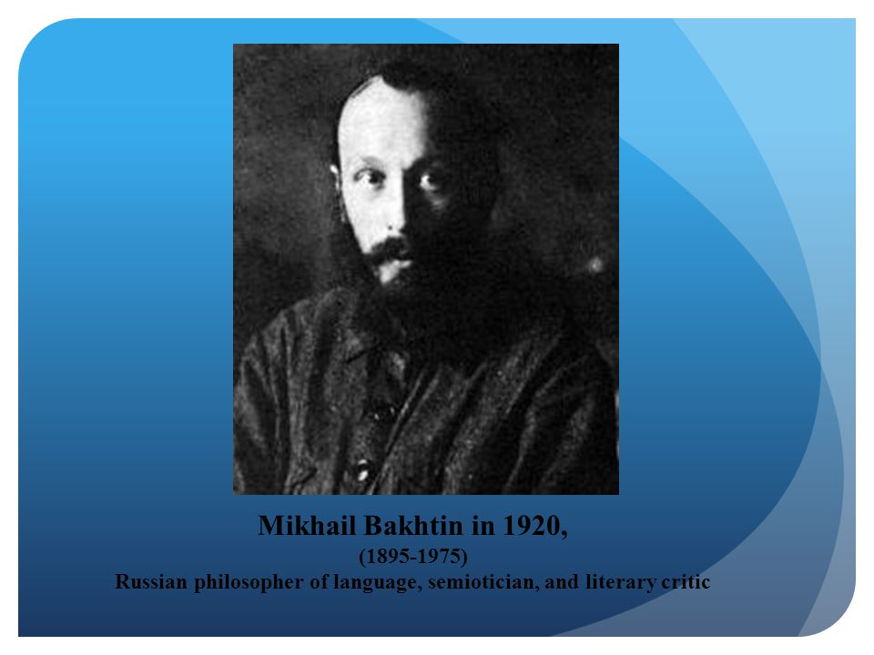 Mikhail Bakhtin in 1920, (1895-1975) Russian philosopher of language, semiotician, and literary critic