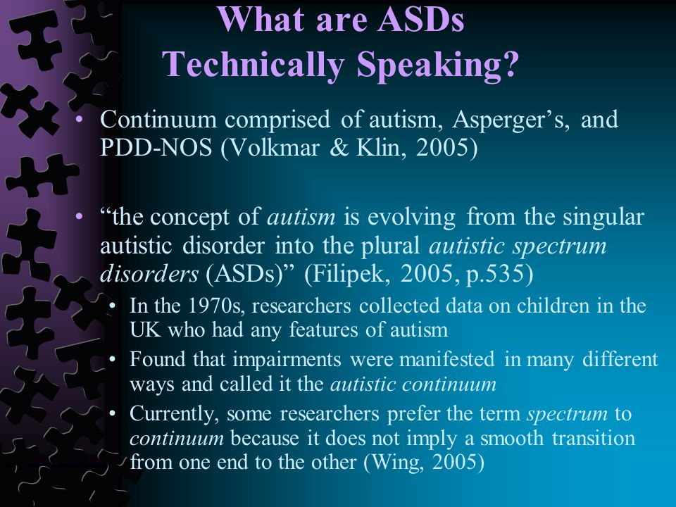 What are ASDs Technically Speaking.