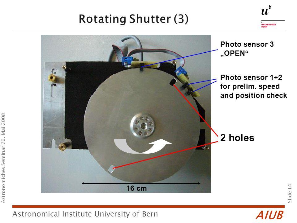 AIUB Slide 14 Astronomical Institute University of Bern Astronomiches Seminar 26.