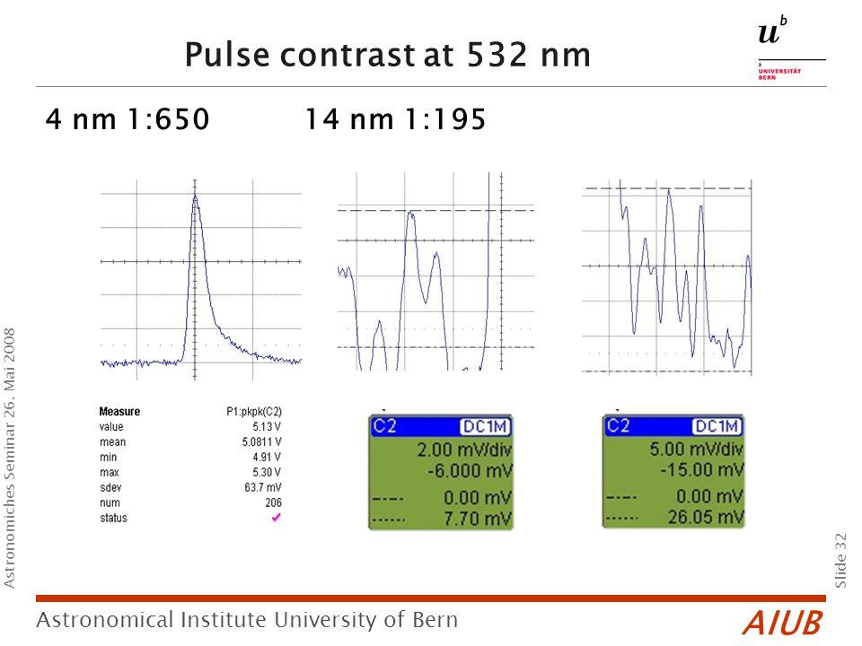 AIUB Slide 32 Astronomical Institute University of Bern Astronomiches Seminar 26.