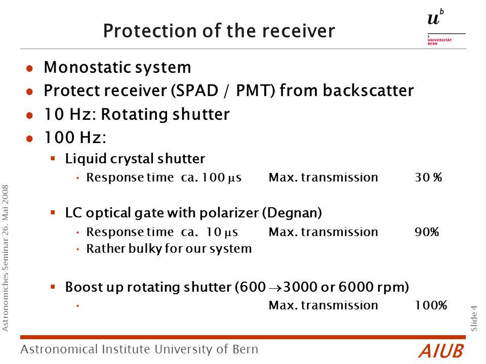 AIUB Slide 4 Astronomical Institute University of Bern Astronomiches Seminar 26.