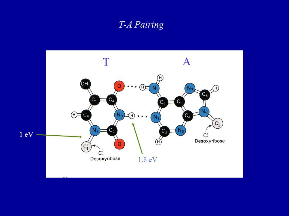 T-A Pairing 1 eV 1.8 eV