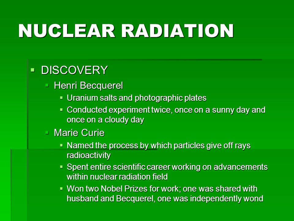 RADIATION DECAY  RADIOACTIVE DECAY  When a nucleus spontaneously disintegrates into a lighter, more stable element  When this happens, x rays and radiation are given off  NUCLEAR STABILITY  In nuclear reactions, the nuclei of unstable isotopes (radioisotopes) gain stability by undergoing changes.