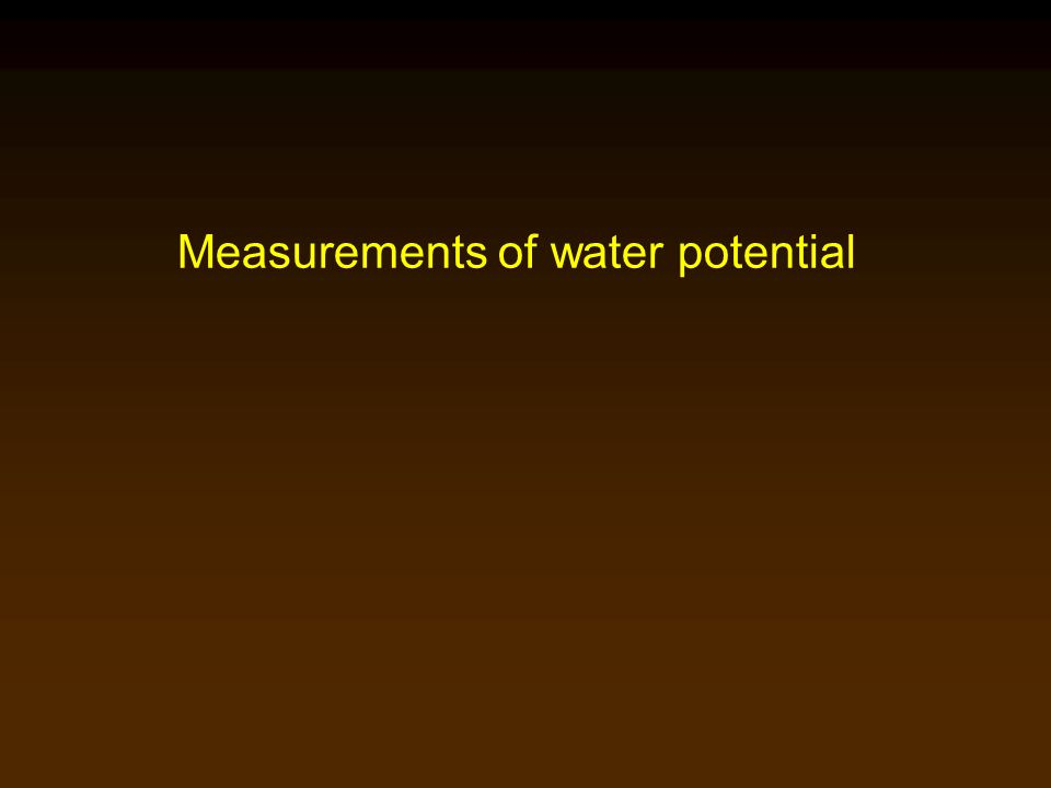Measurements of water potential