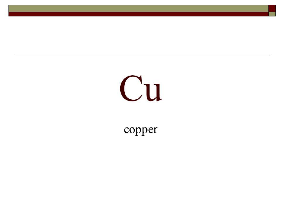 Cu copper