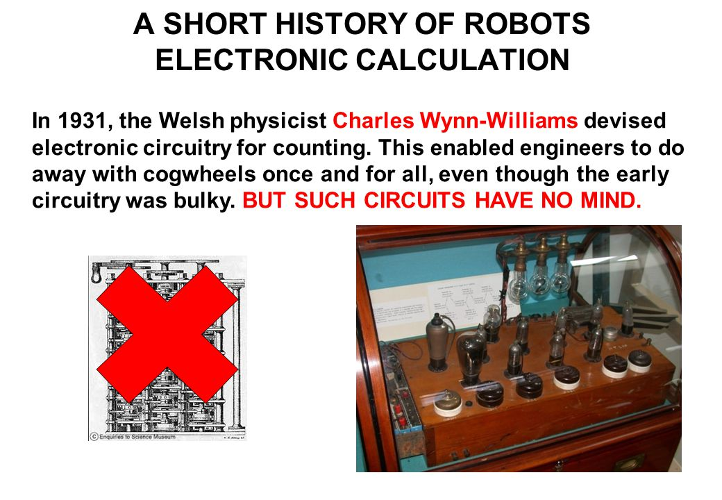 In 1931, the Welsh physicist Charles Wynn-Williams devised electronic circuitry for counting.