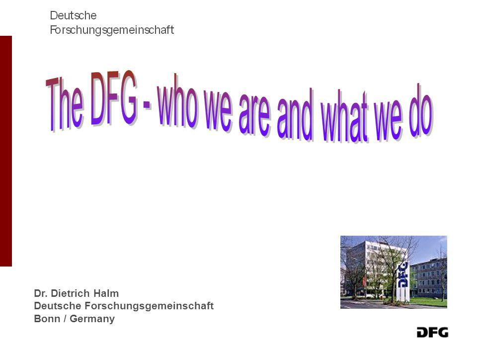 Dr. Dietrich Halm Deutsche Forschungsgemeinschaft Bonn / Germany