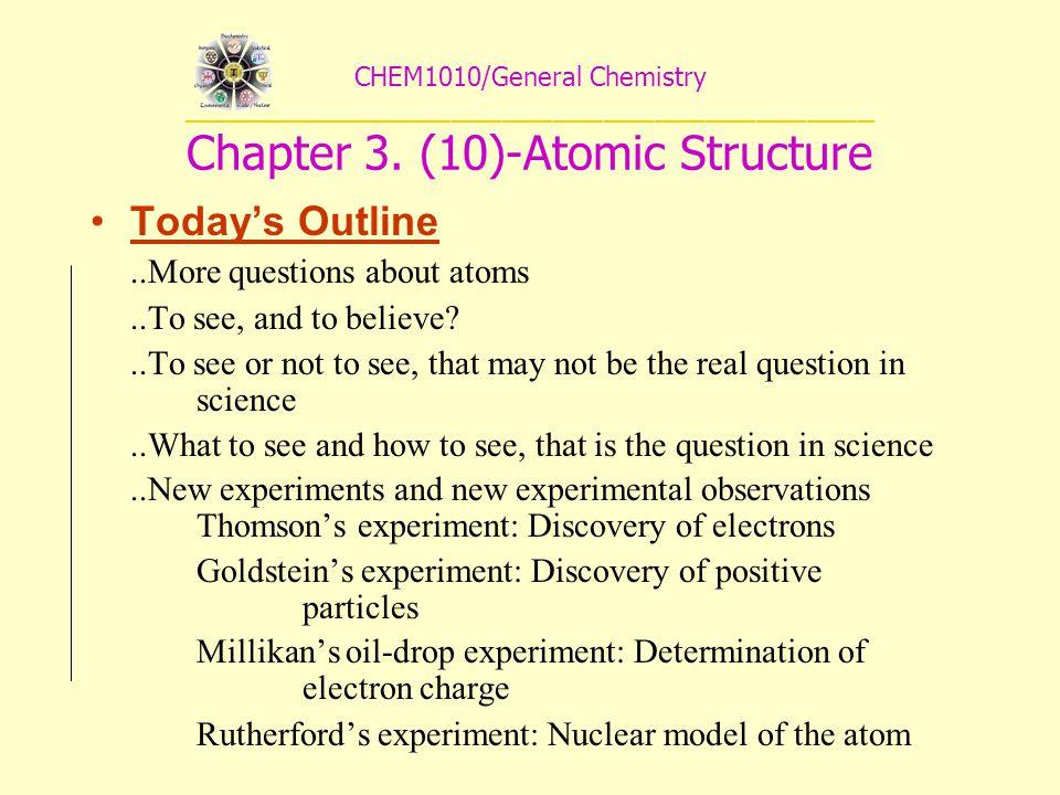 CHEM1010/General Chemistry _________________________________________ Chapter 3.