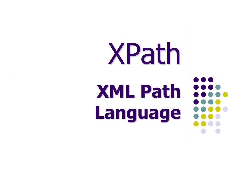 XPath XML Path Language