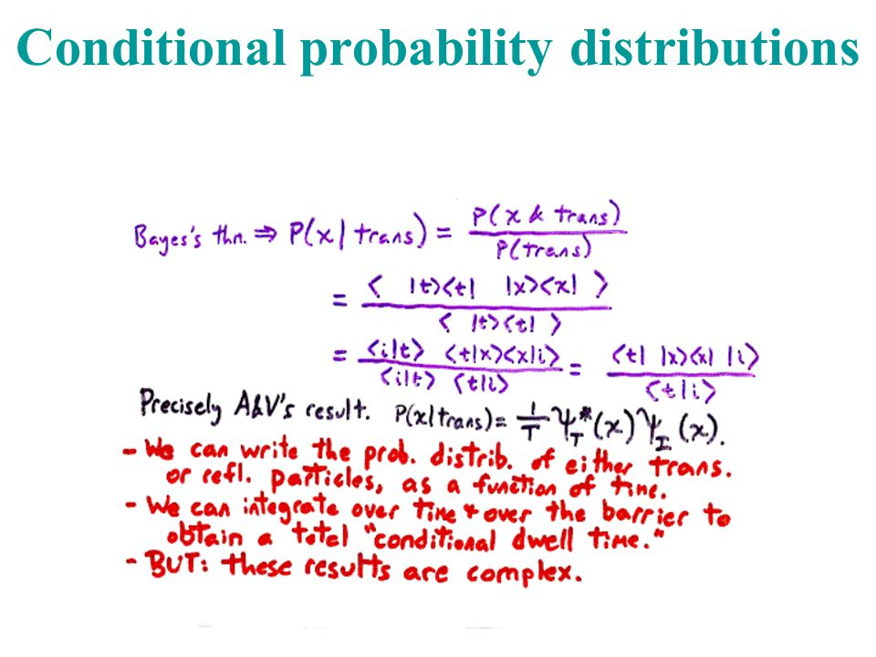 Conditional probability distributions