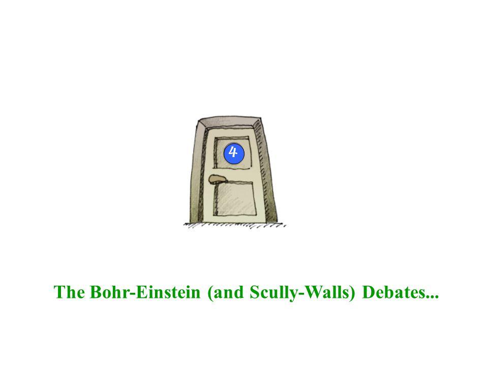 The Bohr-Einstein (and Scully-Walls) Debates... 4
