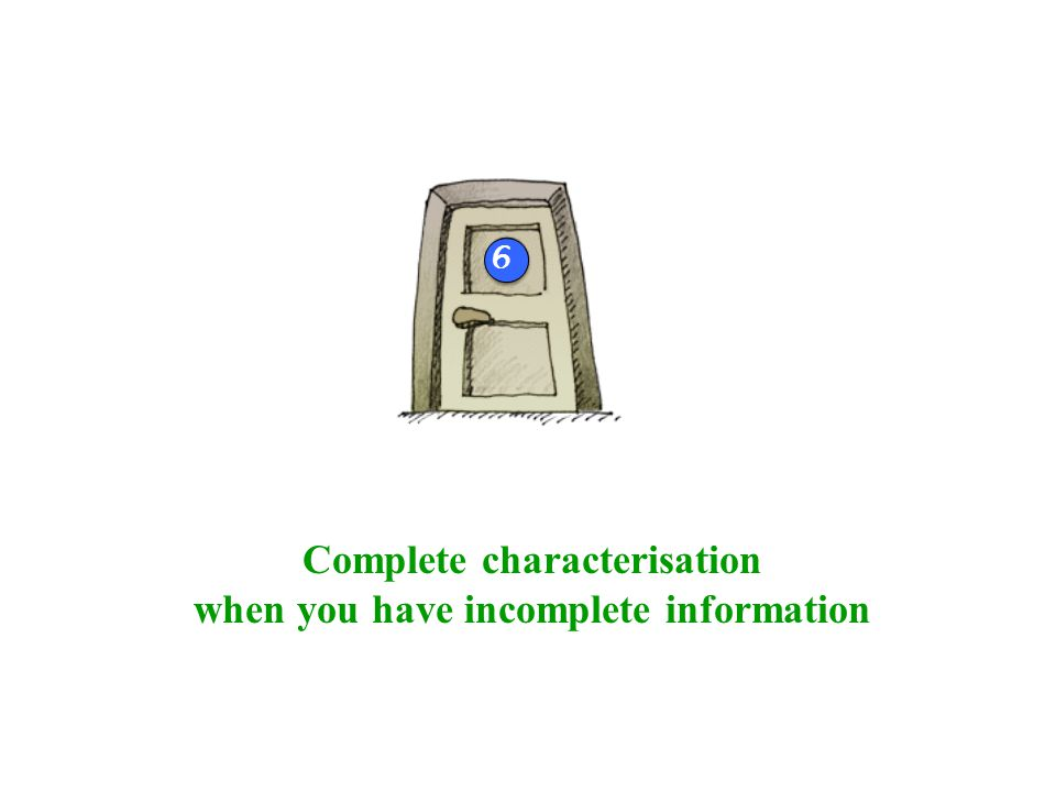 Complete characterisation when you have incomplete information 4b 6