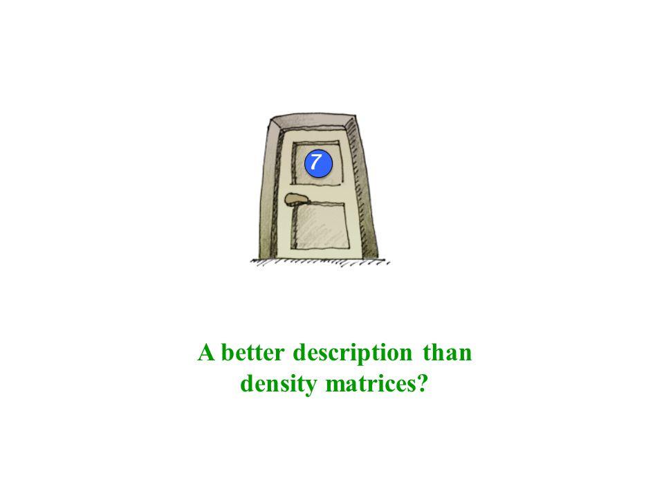 A better description than density matrices 4b 7