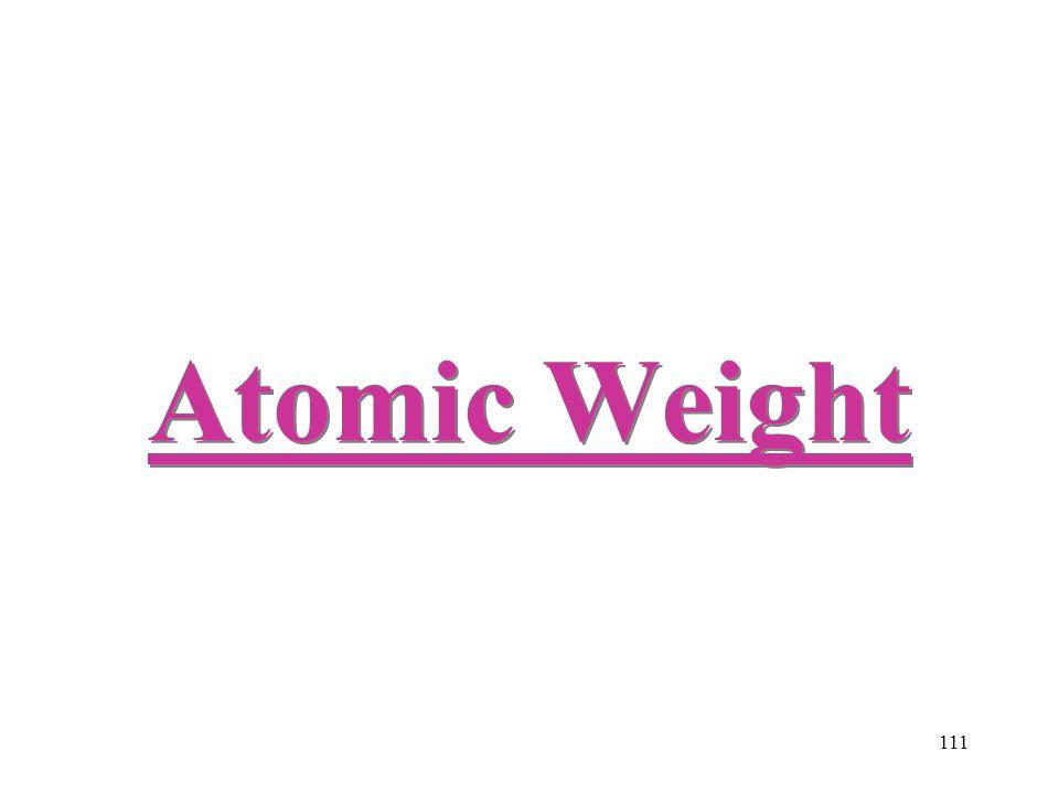 111 Atomic Weight