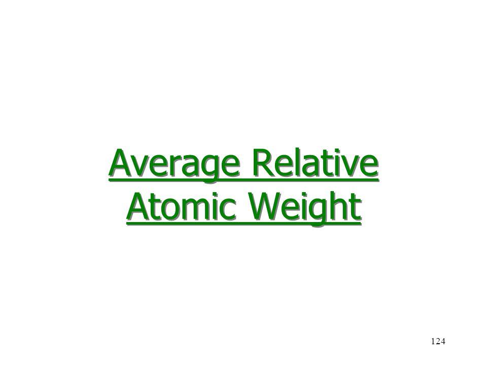 124 Average Relative Atomic Weight