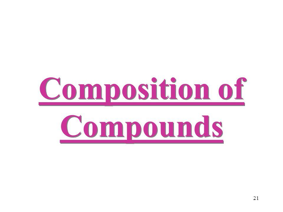 21 Composition of Compounds