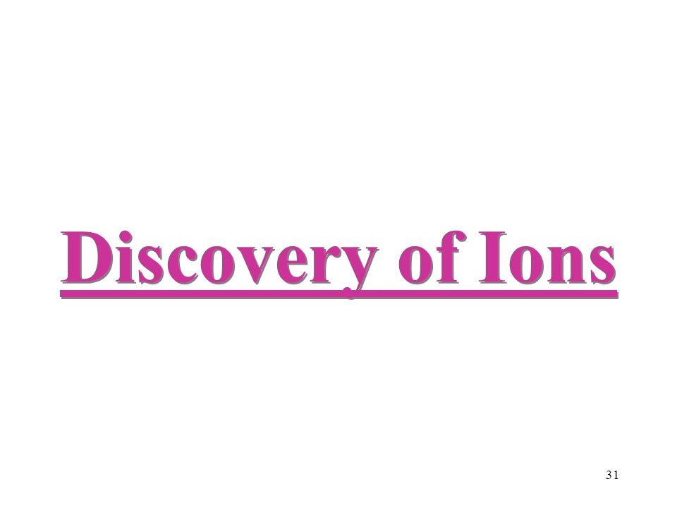 31 Discovery of Ions